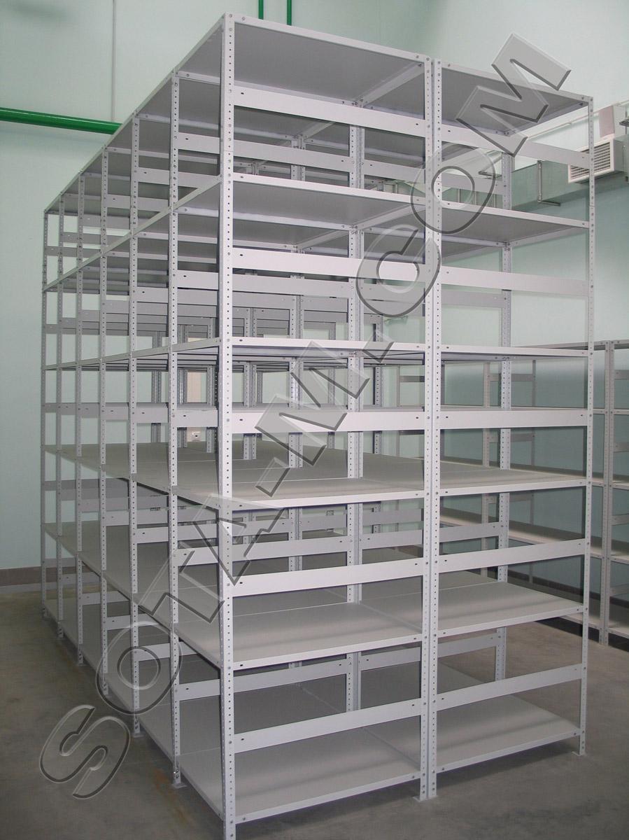 #Стеллажи для склада с перфорированными стойками
